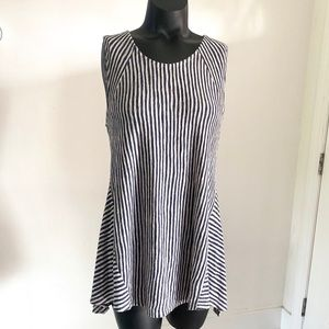 Anthropologie W5 Concepts Gray and White Tunic